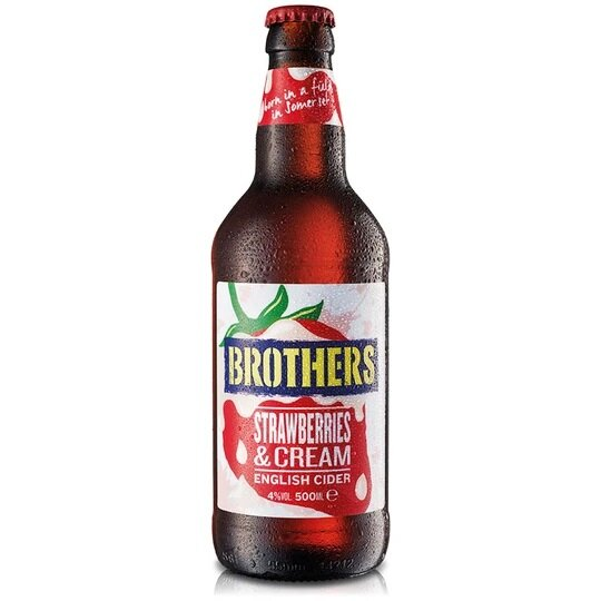 Brothers - Strawberries & Cream - 4,0% alc.vol. 0,5l - Fruchtcider